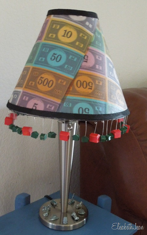 Board game lamp shade