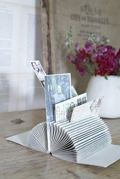 Book page card holder