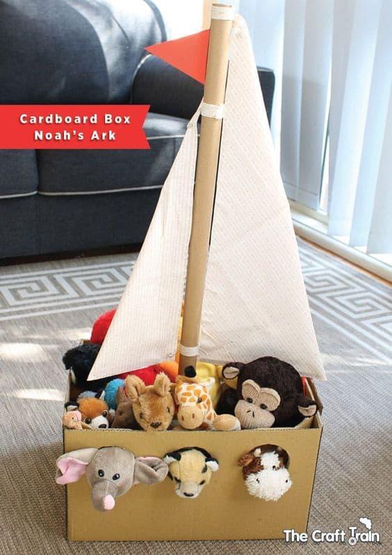 Cardboard box Noah's arc