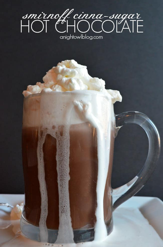 Cinne-sugar vodka hot chocolate
