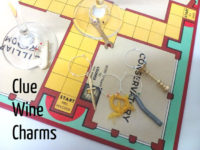 Clue piece wine glass charms 200x150 Renewed Nostalgia: Fun Ways to Repuropse Old Board Games