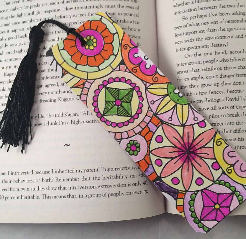 Colorful bookmark