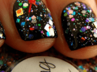 Confetti glitter on black 200x150 Fun Manicures That Will Make You Sparkle
