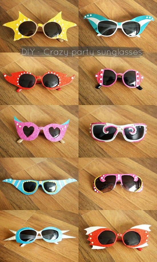 Crazy party sunglasses
