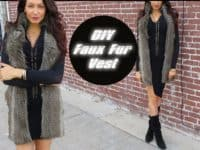 DIY faux fur vest 200x150 15 Stylish Ideas for Working with Faux Fur