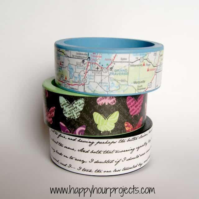 DIY map bracelets
