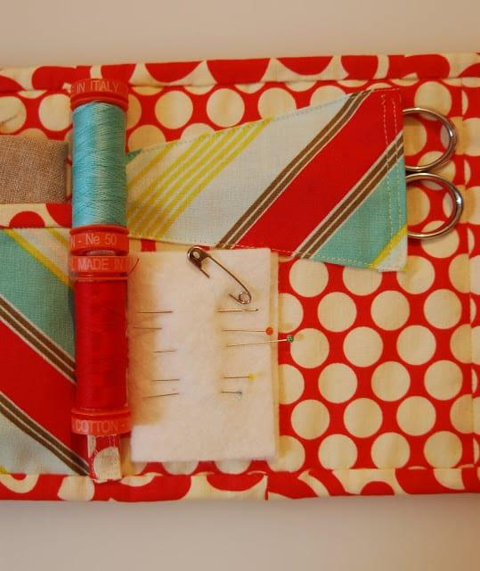 DIY travel sewing kit