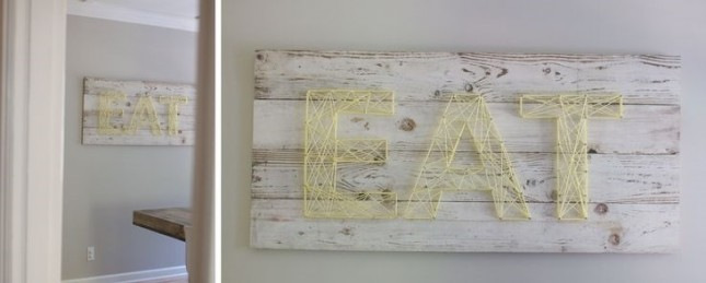 Eat string art