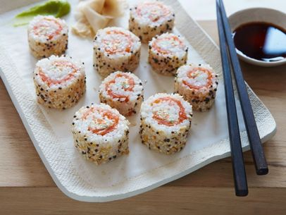 Everything bagel sushi roll