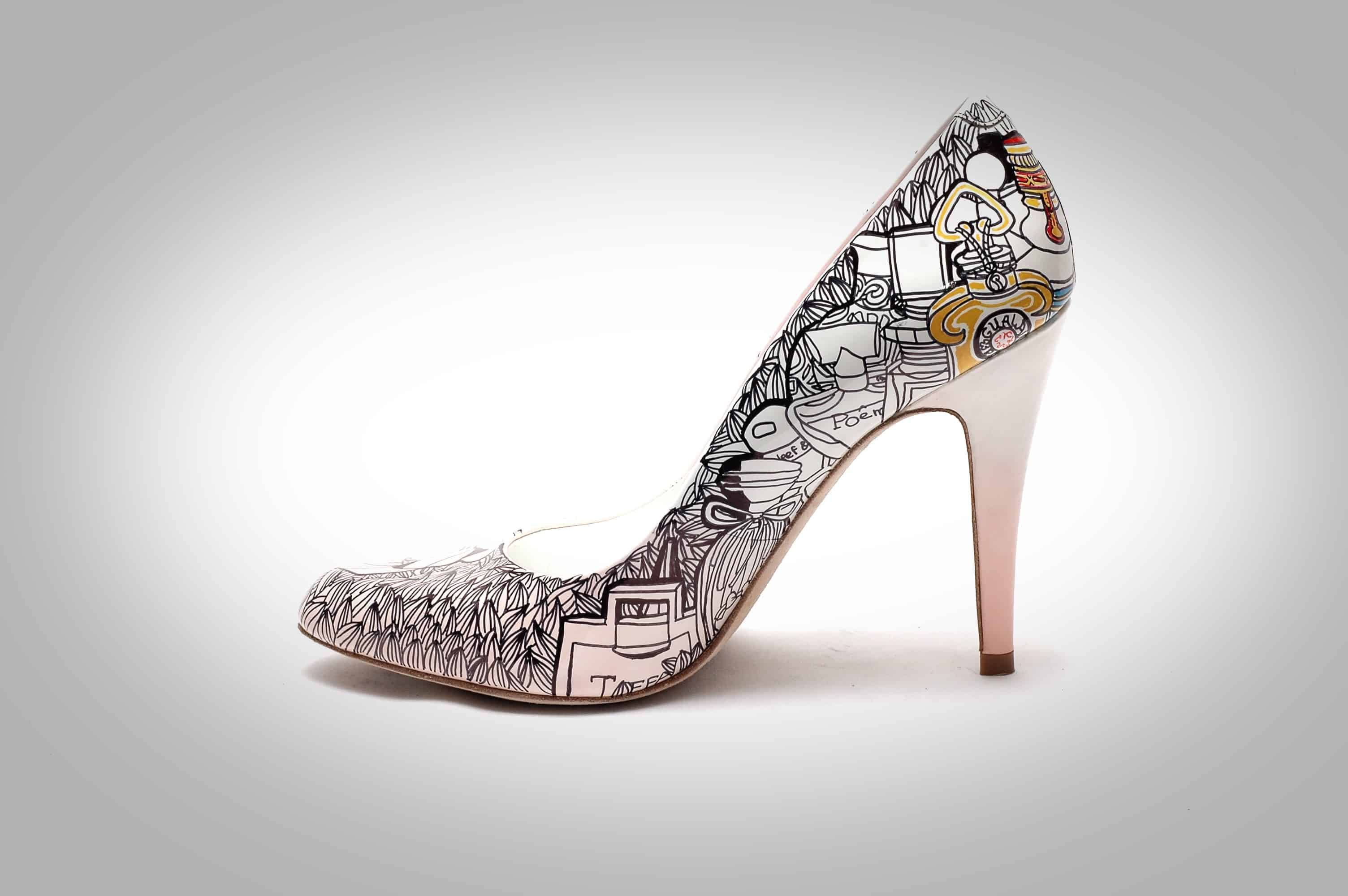 Finely detailed patterns on pumps