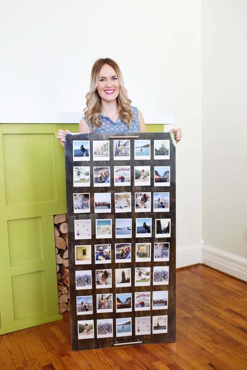 Giant Polaroid display
