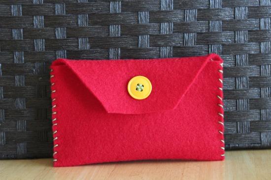 Handmade felt envelope