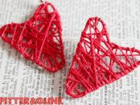 Heart shaped paper clip earrings 200x150 Fun Crafts to Make with Paper Clips