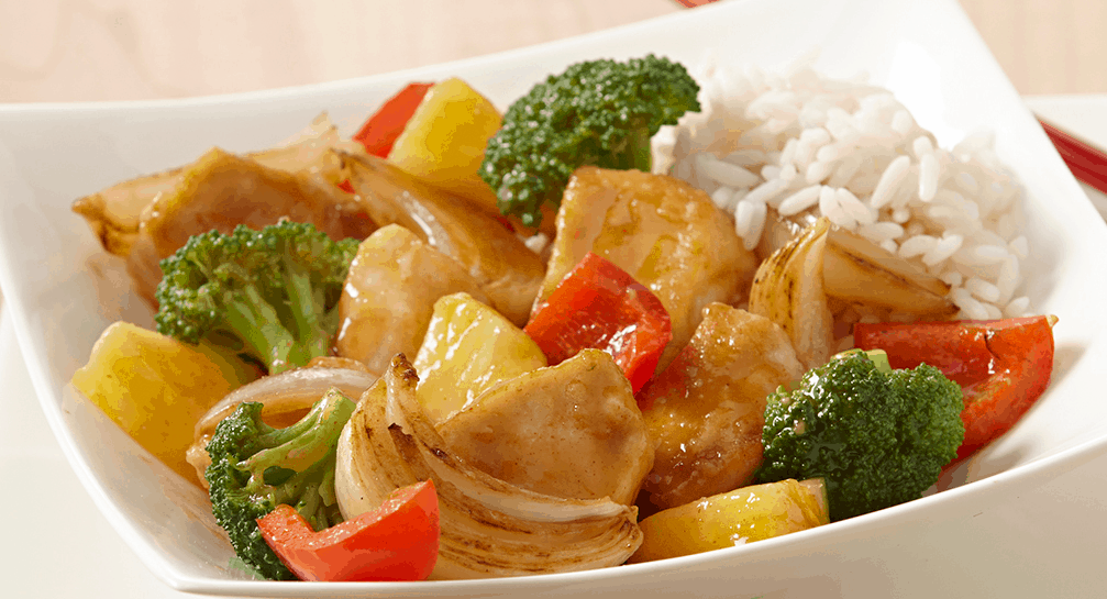 Honey pinepple chicken stir fry