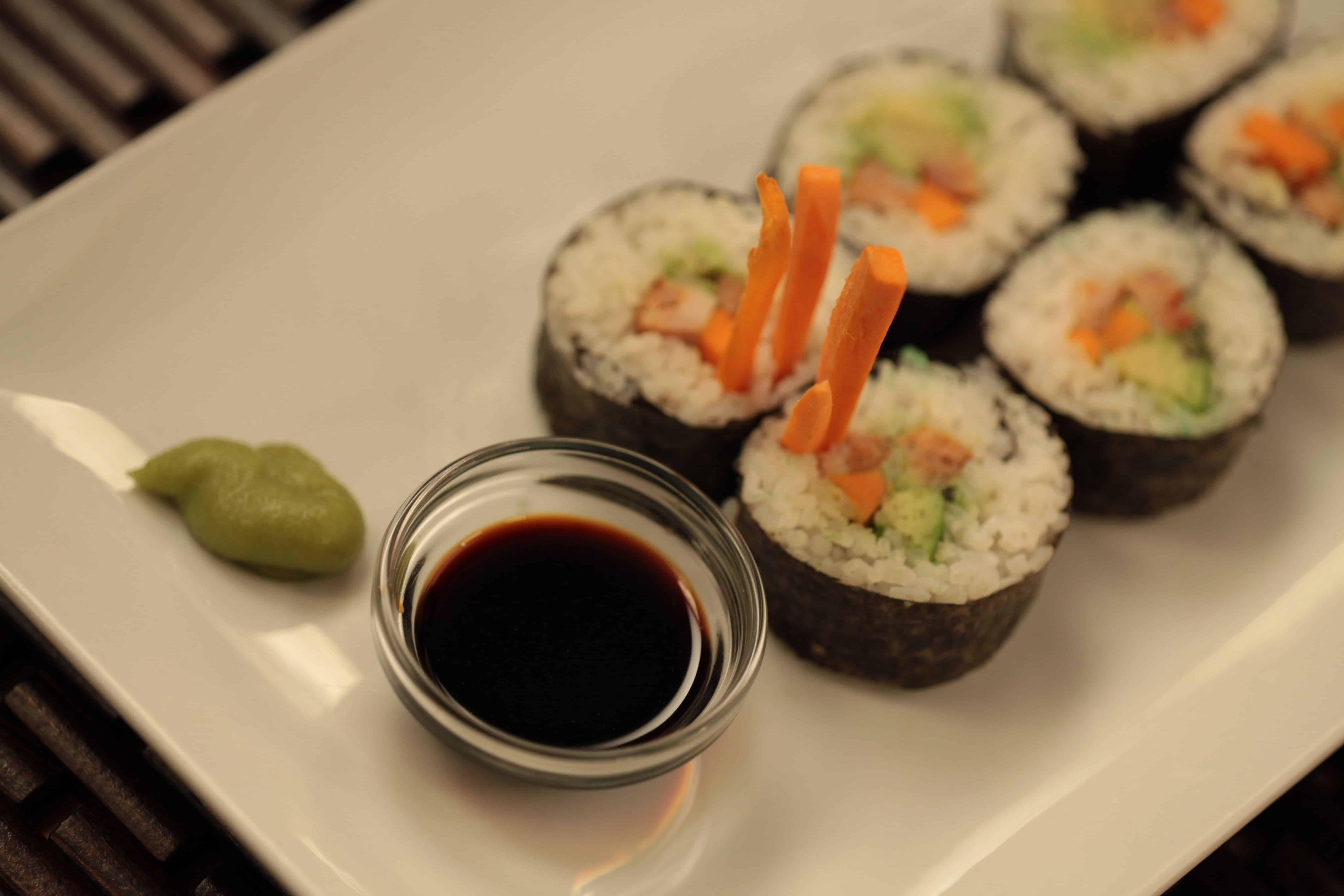 Kielbasa sushi rolls