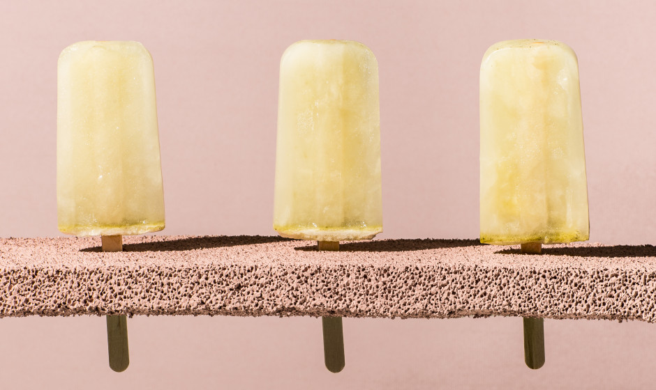 Lemon-thyme ice pops