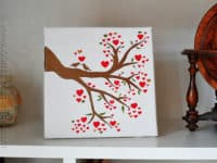 Love bird in a heart tree 200x150 15 Ways To Us That Old Dollar Store Canvas