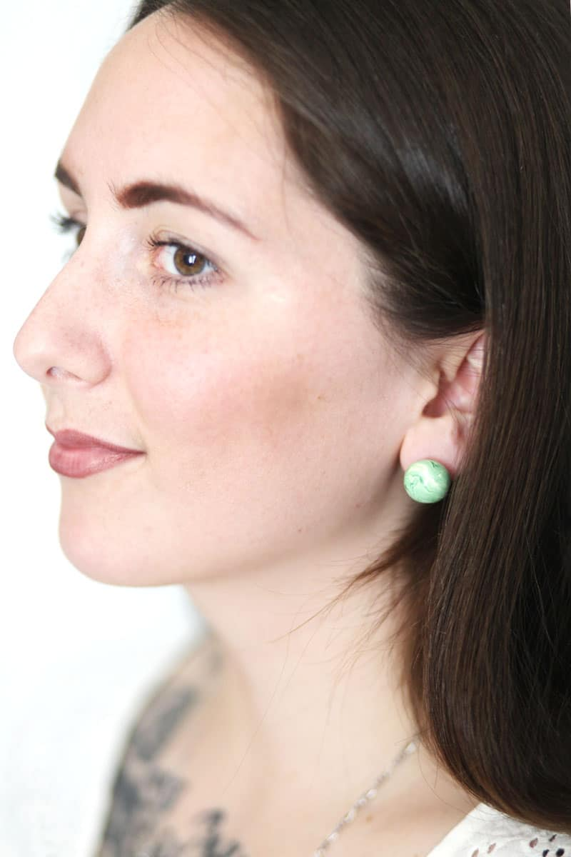 Marble jade earrings