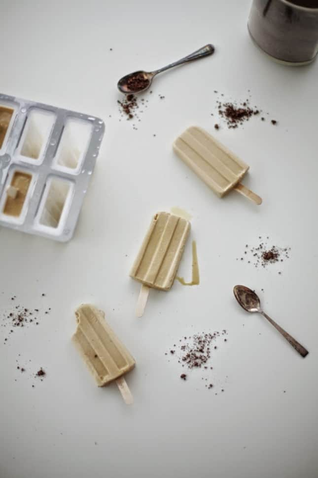 Milky Vietnamese coffee popsicles