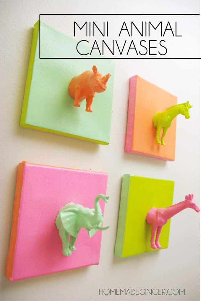 Mini animal canvas