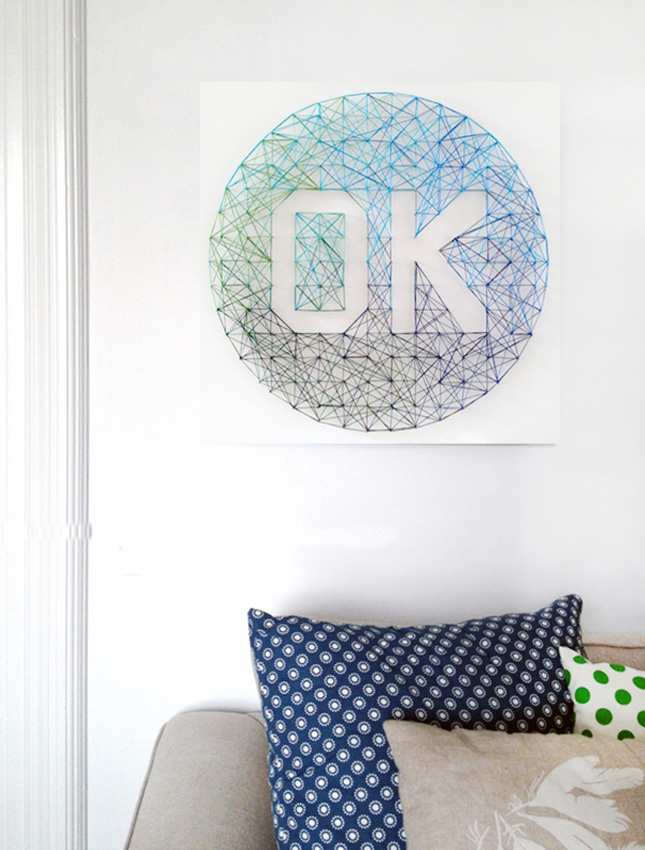 Ombre string art