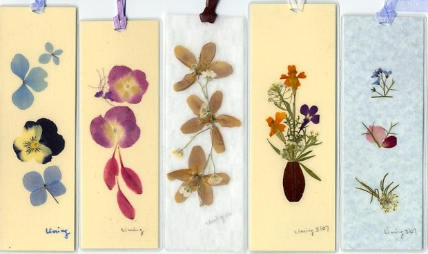 Gorgeous crafts made with pressed flowers view in gallery paper and pressed flower bookmarks mightylinksfo
