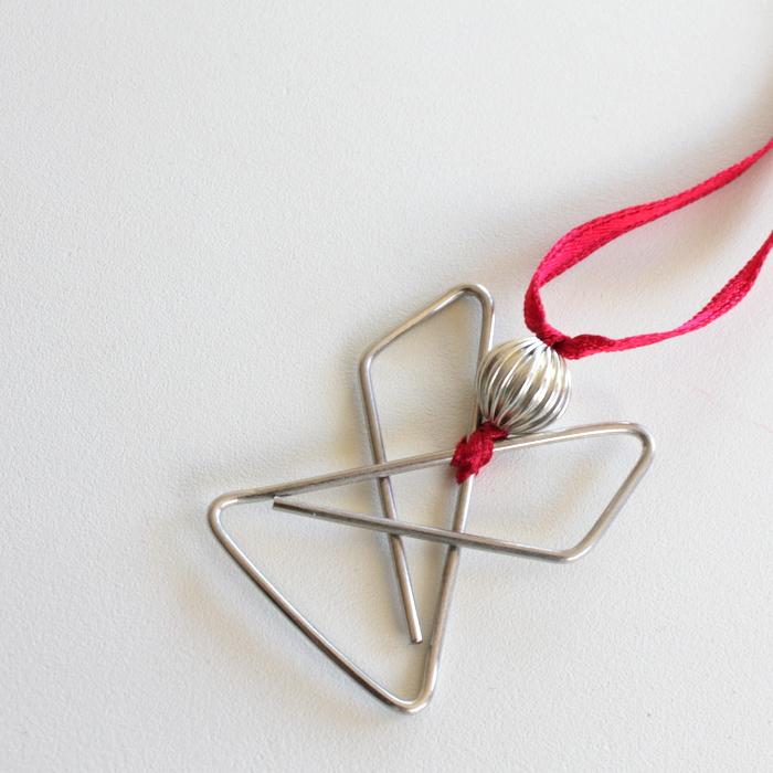Paper clip angel decoration