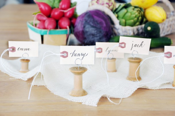 Paper clip name card holders