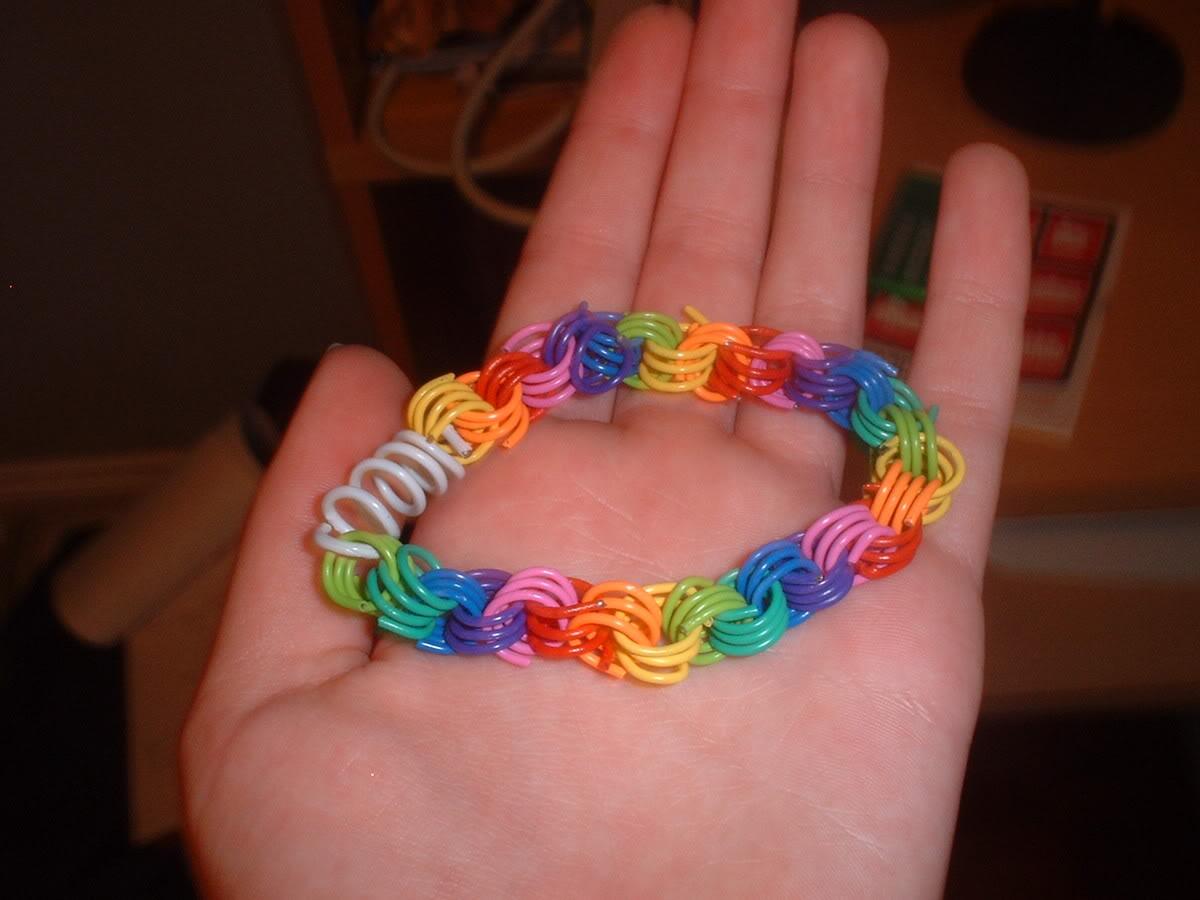 Paper clip spiral bracelet