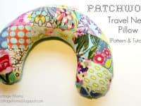 Patchwork travel neck pillow 200x150 DIY Gifts That Travelers Will Love