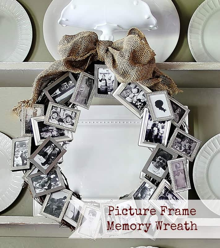Click away 15 awesome crafts for polaroid enthusiasts view in gallery picture frame memory wreath solutioingenieria Images
