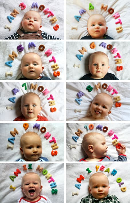 15 Cute Ideas For Monthly Baby Photos