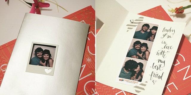 Polaroid greeting card