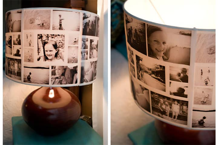 Polaroid lampshade