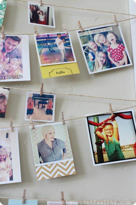 Polaroid wall display