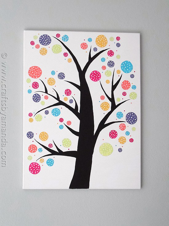 Polka dot circle tree