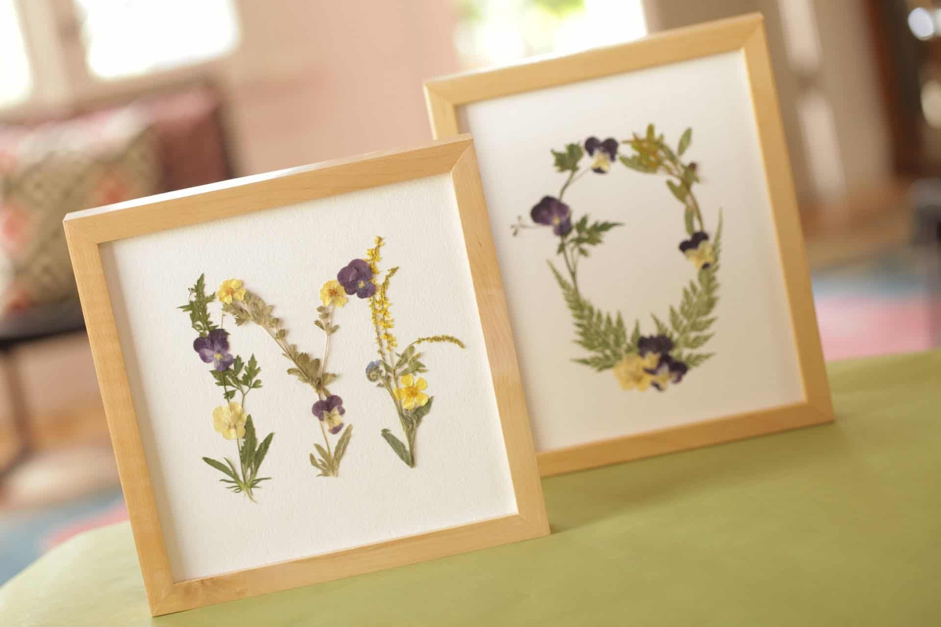 Gorgeous crafts made with pressed flowers view in gallery pressed flower monograms mightylinksfo