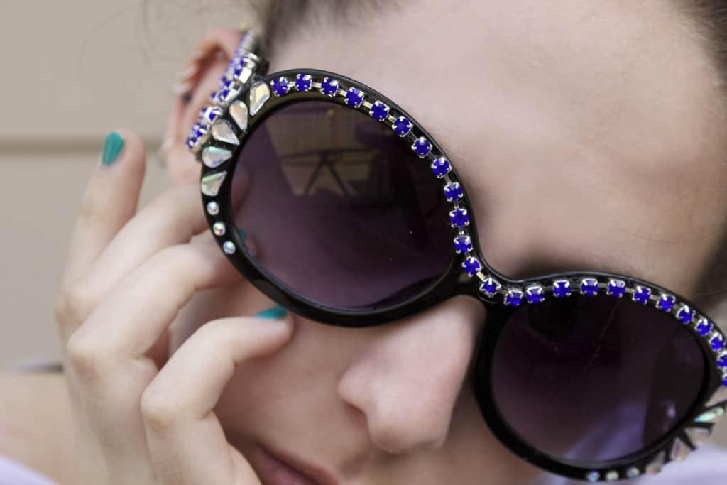 Rhinesteoned sunglasses