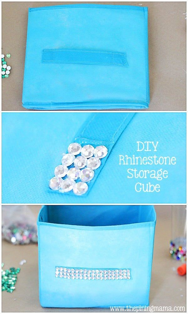 Rhinestone storage cube