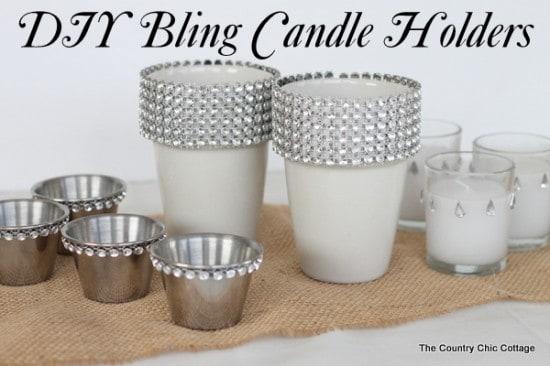 Rhinetsoned candle holders