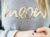 Sequin worded sweatshirt 200x150 Bright, Fun Projects for Sequin Lovers