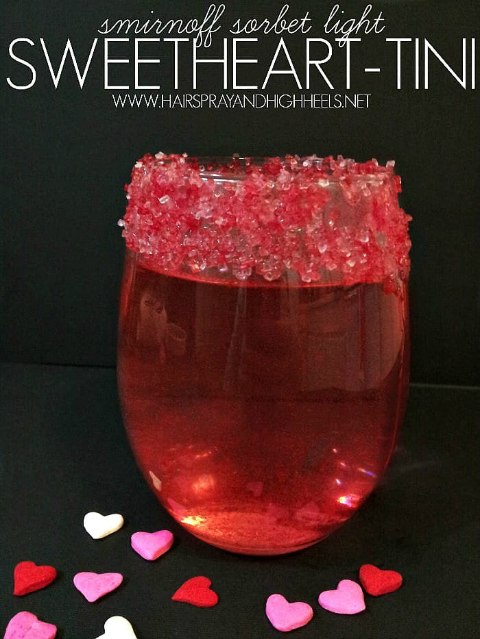 Smirnoff sorbet light sweetheart-tini