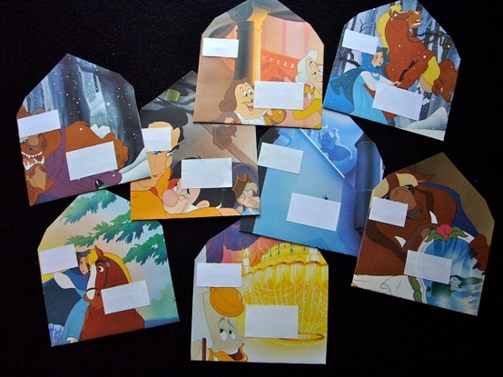 Story book picture envelopes