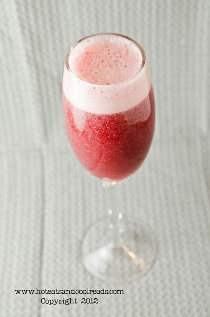 Strawberry and blackberry bellinis