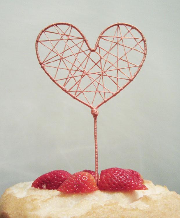 String cake topper