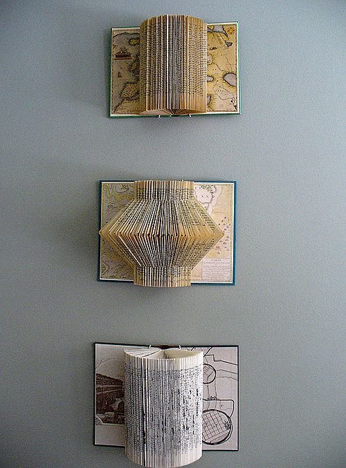 Stylish book page art