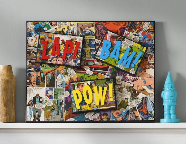 Superhero canvas art