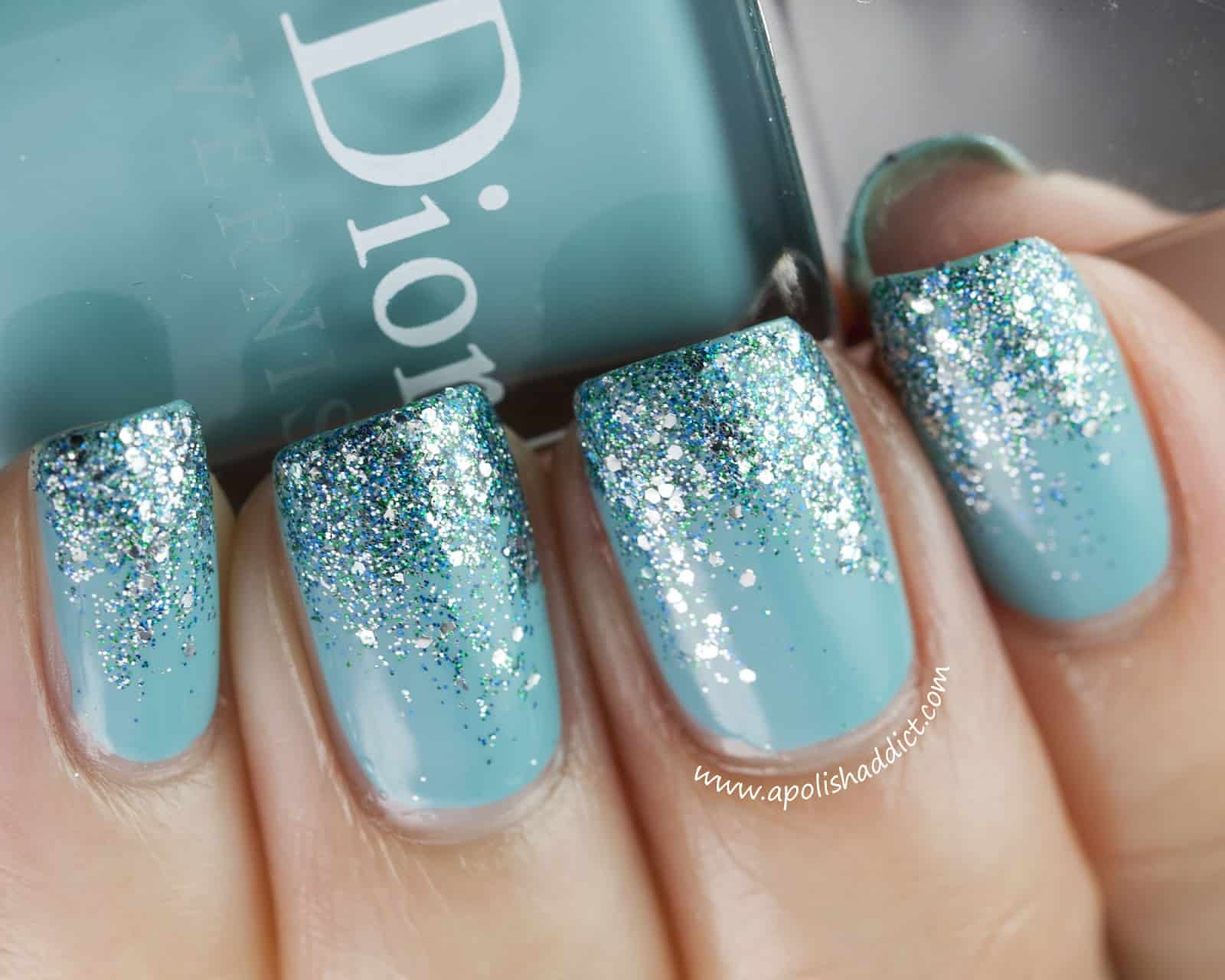 View In Gallery Teal Glitter On
