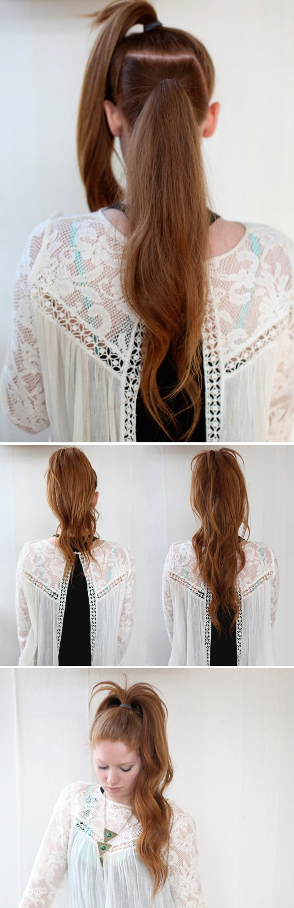 The illusion ponytail