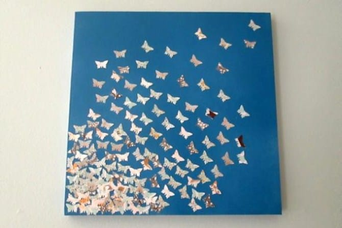 Tiny butterflies canvas art